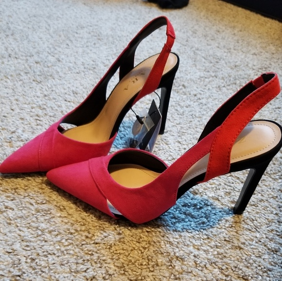 9c9f86cad9e Zara Fuchsia/Orange High Heel Pointy Pumps NWT